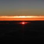 飛行機よりの夕日-1